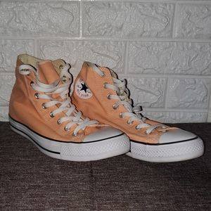 Converse Shoes - Peach Chuck Taylors